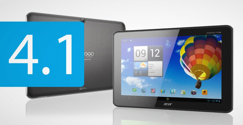 Android 4.1 Jelly Bean nun auch fuer Acer Iconia Tab A510