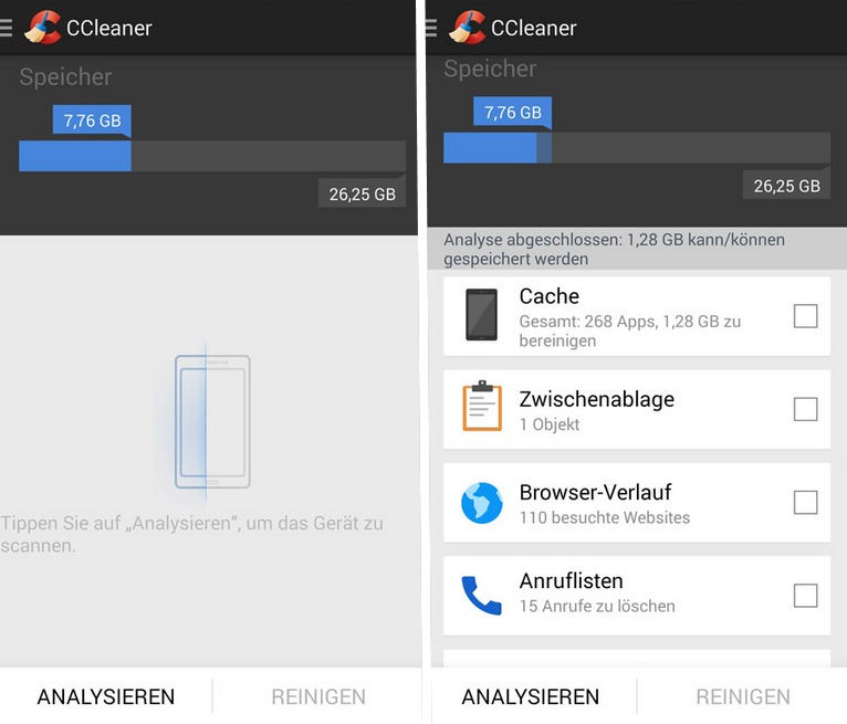 CCleaner Android Screenshots
