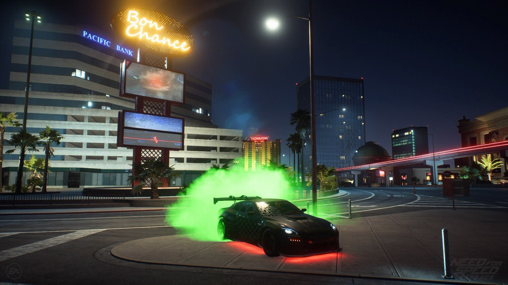 Need for Speed Payback - Nissan GTR mit grünen Reifenqualm