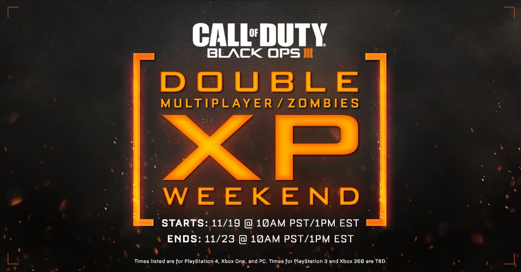Black Ops 3: Double XP-Event
