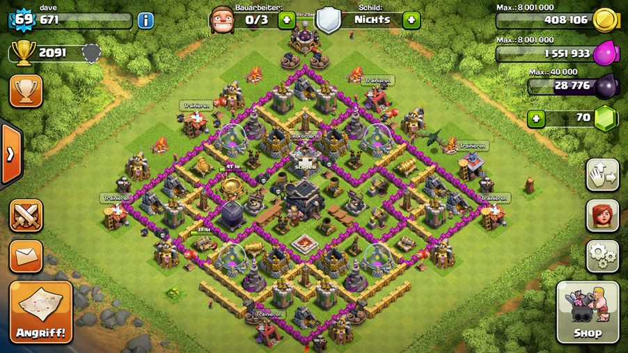 Clash Of Clans - Rathaus Level 9