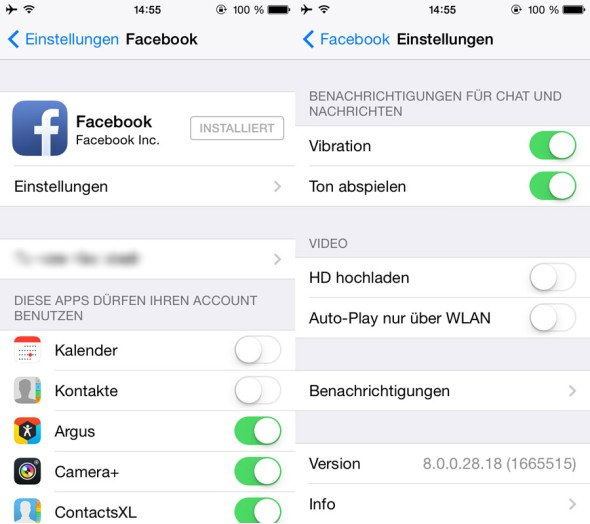 Facebook Auto-Play-Videos deaktivieren - iOS