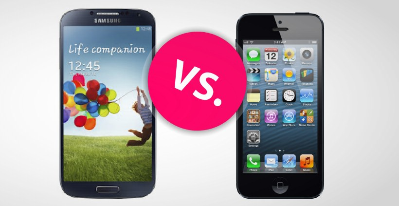 Samsung Galaxy S4 gegen Apple iPhone 5: Android vs. iOS