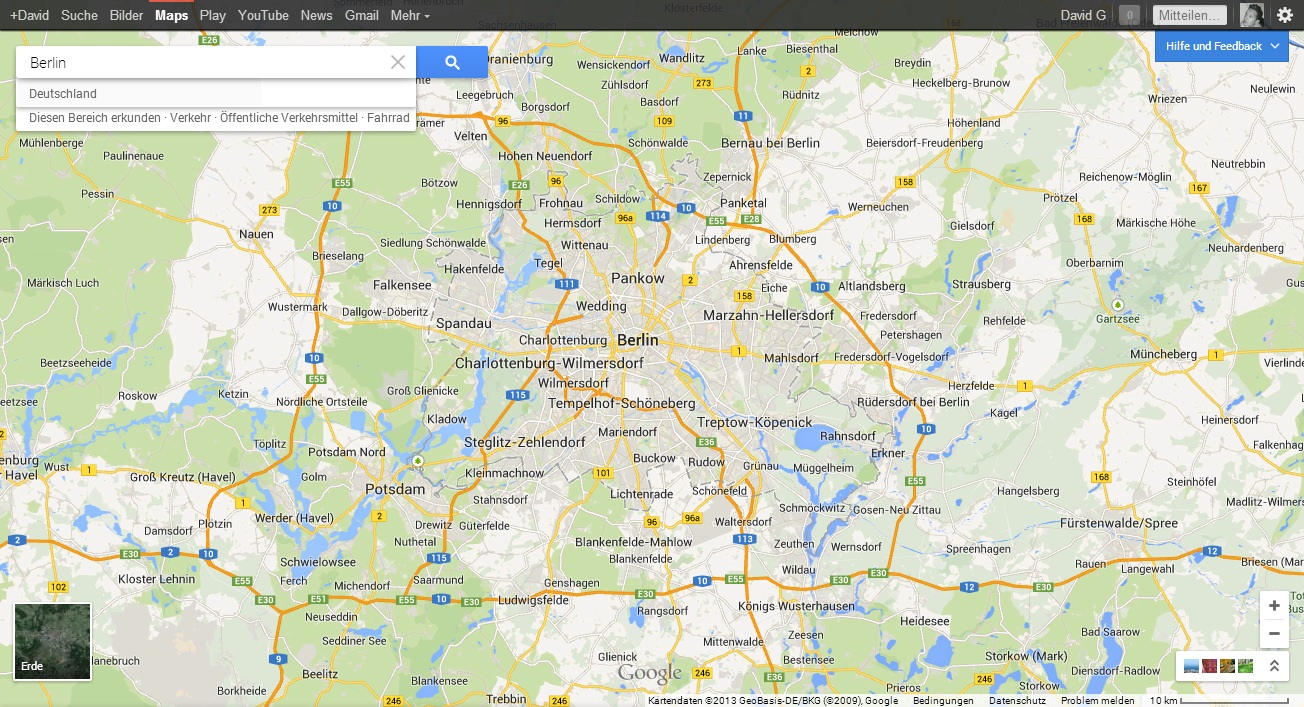 Google Maps 2013 Screenshot