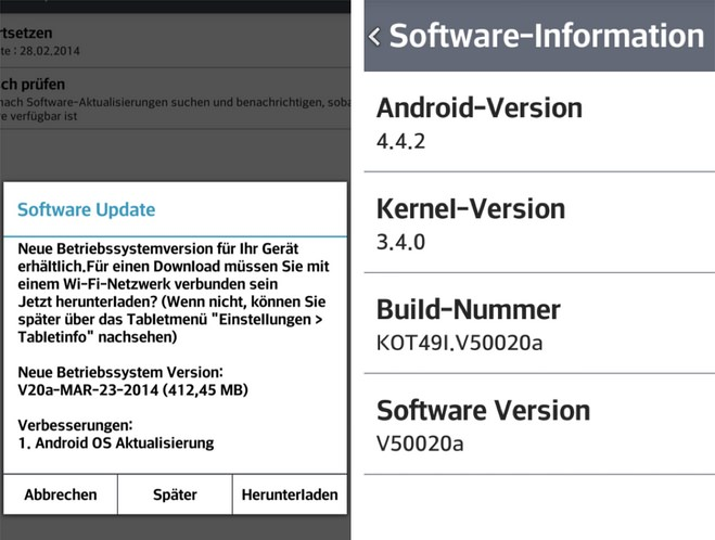 LG G Pad 8.3 - Android 4.4.2 KitKat
