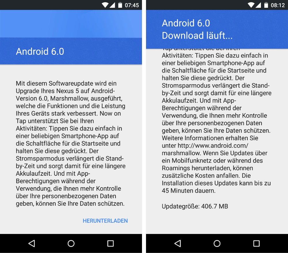 Nexus 5 Android 6.0-Update