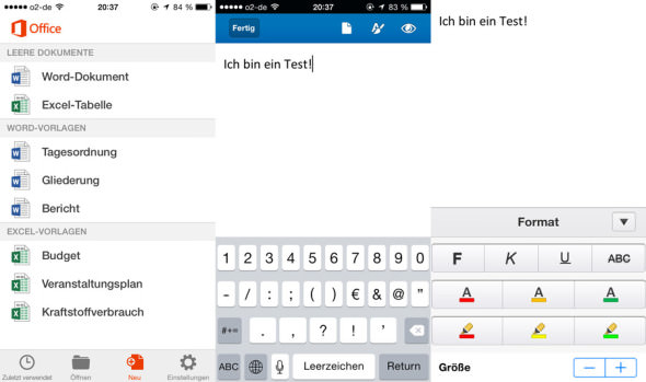 Microsoft Office Mobile Screenshots