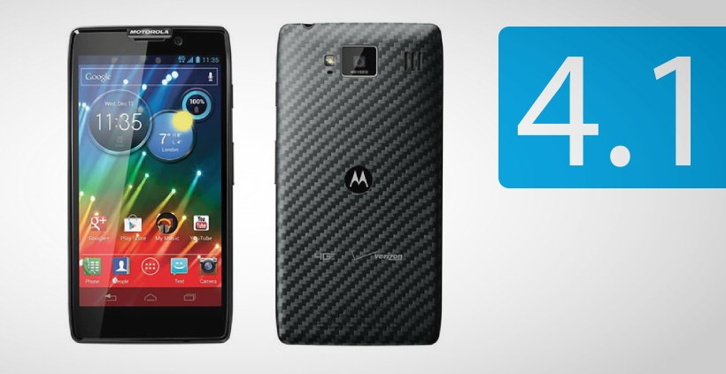 Android 4.1 Jelly Bean Update fuer Motorola RAZR HD