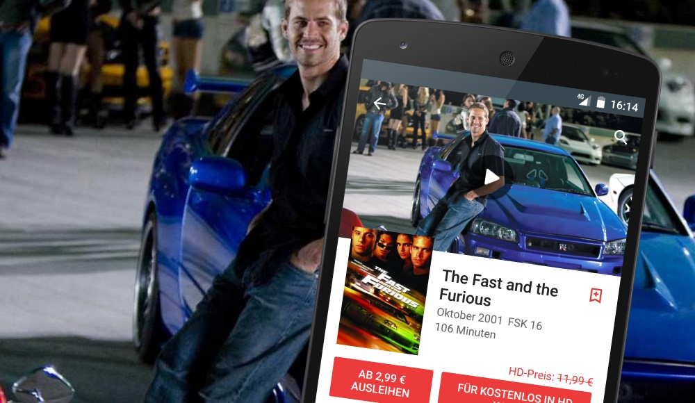 The Fast and the Furious bei Google Play kostenlos