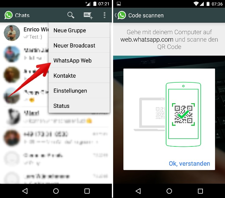 WhatsApp Web QR scann