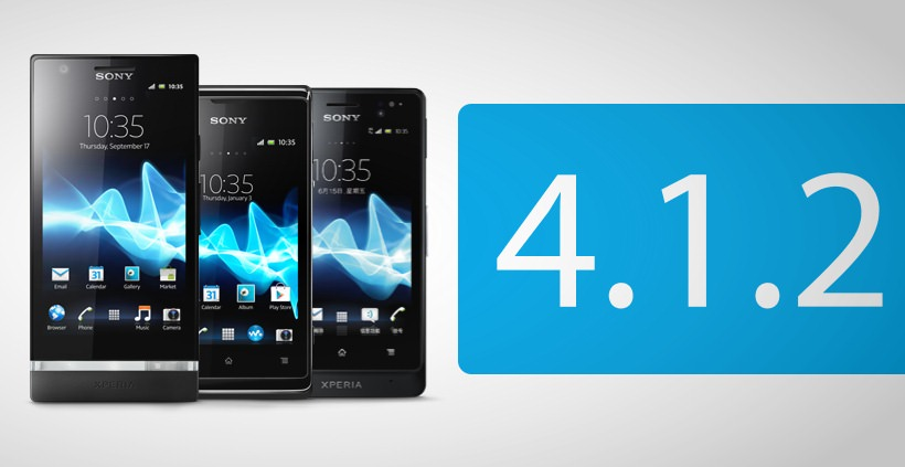 Android Jelly Bean Update für Sony Xperia P, Xperia go